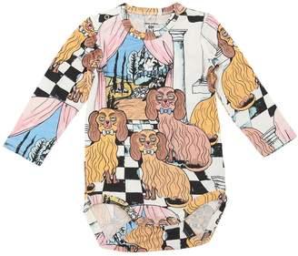 Mini Rodini Dashing Dog Print Cotton Jersey Bodysuit