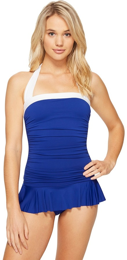 Lauren Ralph LaurenLAUREN Ralph Lauren Bel Aire Solid Skirted Mio One-Piece