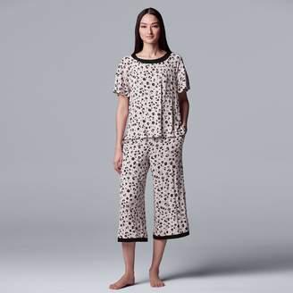 Vera Wang Women's Simply Vera Tee & Capri Pajama Set