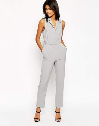 Asos DESIGN Tailored Jumpsuit with Shirt Detail