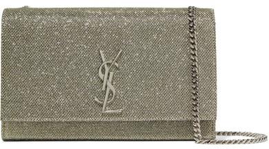 Saint LaurentSaint Laurent - Monogramme Kate Medium Glittered Leather Shoulder Bag - Gold