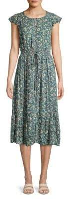 Lucky Brand Felicia Floral Button-Front Dress