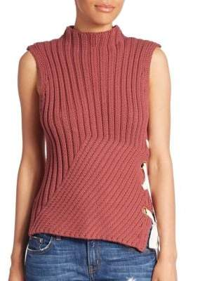 Derek Lam 10 Crosby Ribbed Sleeveless Sweater