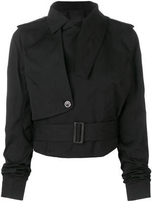 Rick Owens asymmetric cropped jacket