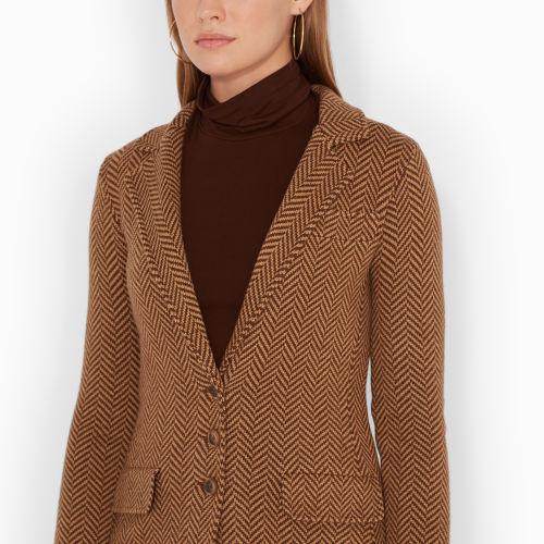 Ralph Lauren Wool-Blend-Herringbone Coat