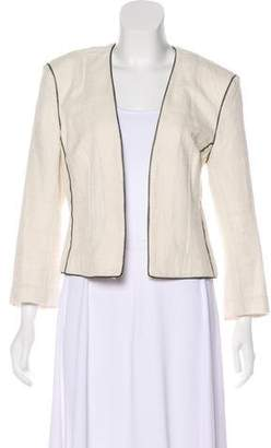L'Agence Collarless Open Front Jacket