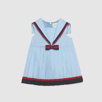 Gucci Baby poplin dress with bow