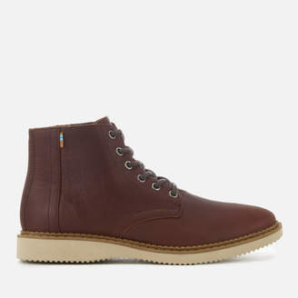 035d3821f21 Toms Men s Porter Leather Water Resistant Lace Up Boots - Dark Brown