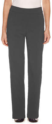 Alfred Dunner Classics Womens High Waisted Slim Pant