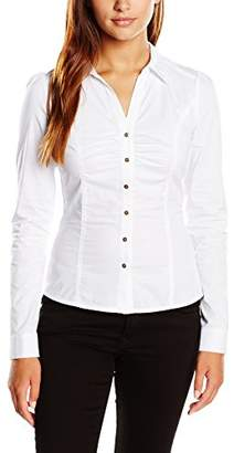 Morgan Women's Fitted Waist Long Sleeve Shirt - White