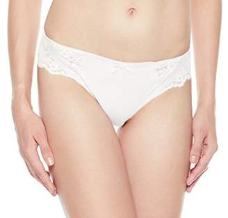 XoDo Intimates Women's Lace Back Cotton Inner Crotch Satin Panty (