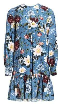 Erdem Christy Floral-Print Trapeze Dress