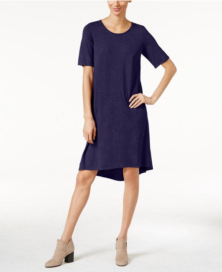 Eileen Fisher Hemp-Organic Cotton Shift Dress 3