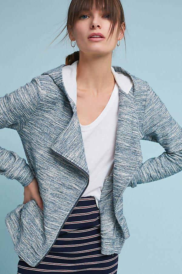 Saturday/Sunday Moto-Jacke aus Tweed mit Kapuze - Neutral Motif