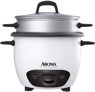 Aroma 6-Cup (Cooked) Pot-Style Rice Cooker & Food Steamer
