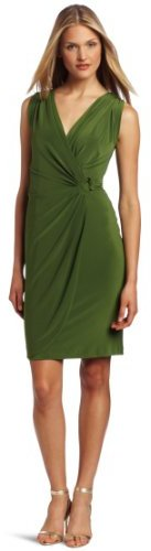 Jones New York Women's Grecian Wrap Ring Dress