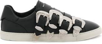 DSQUARED2 western buckled sneakers