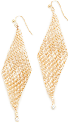 Jules Smith Crystal Mesh Wave Earrings $32 thestylecure.com