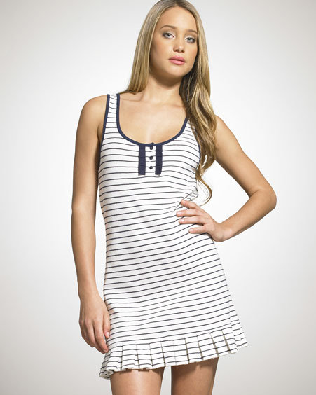 Juicy Couture Striped Tennis Tank Dress