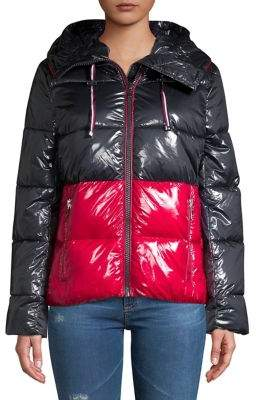 Tommy Hilfiger Colorblock Water-Resistant Puffer Jacket