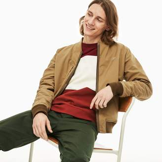 03fdcb7bf9 Lacoste Men's Reversible Lightweight Cotton Bomber