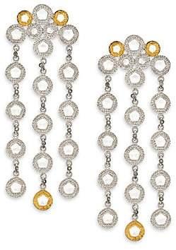 Coomi Silver Women's Opera Diamond, Crystal, 20K Yellow Gold & Sterling Silver Chandelier Earrings