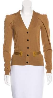 Lela Rose Belted Wool Cardigan
