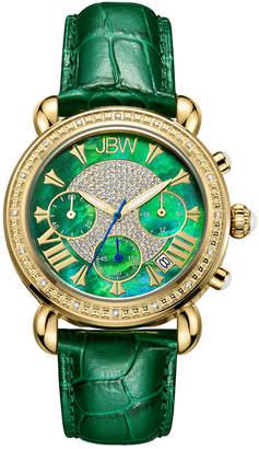 JBW Women's Victory Leather Diamond Watch