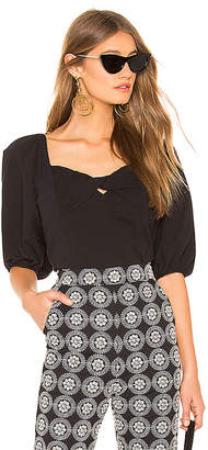1 STATE Puff Sleeve Crop Top