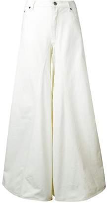 MM6 MAISON MARGIELA flared wide-leg jeans