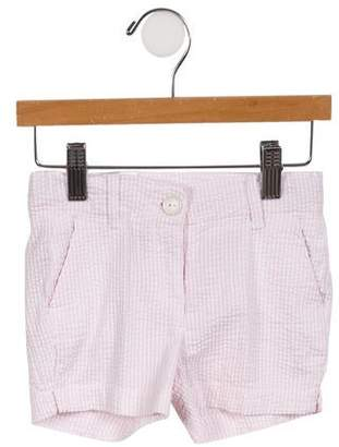 Eddie Pen Girls' Gingham Woven Two-Pocket Shorts w/ Tags