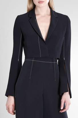 Cushnie Black Stanton Cropped Flare Sleeve Jacket