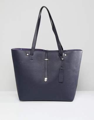Oasis Tab Detail Oversized Shopper Bag