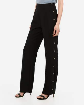 Express High Waisted Side Button Wide Leg Pants
