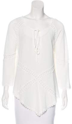 Andrew Gn Long Sleeve Embroidered Tunic