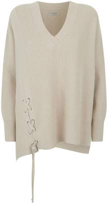 AllSaints Able Lace Up Sweater