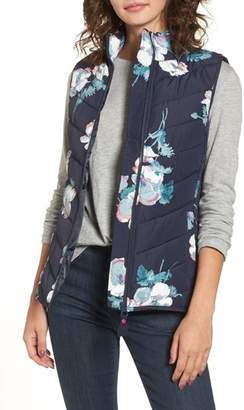 Joules Print Quilted Vest