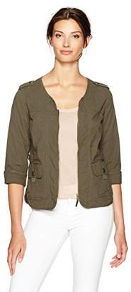 Democracy Women's Flap Pocket Jacket W/Tape Yarn Contrast
