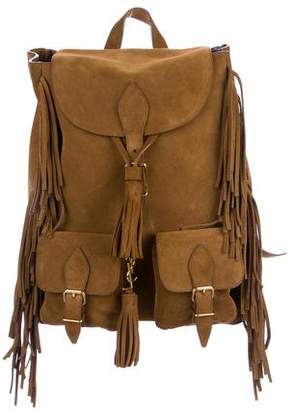 Saint Laurent Suede Fringe Festival Backpack