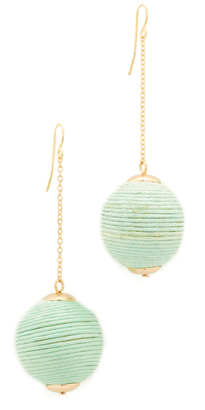 Shashi Matilda Chain Drop Earrings $35 thestylecure.com