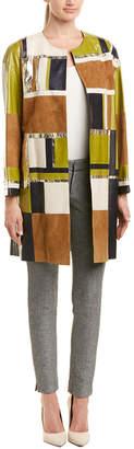 Lafayette 148 New York Braylee Leather Coat