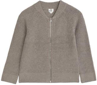 Arket Cotton Cashmere Zip Cardigan
