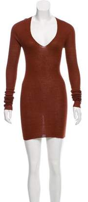 Saint Laurent Silk-Blend Sweater Dress
