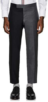 Thom Browne Men's Striped Two-Tone Wool Trousers