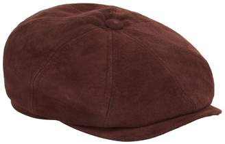 Stetson Hatteras Leather Flat Cap