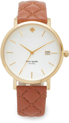Kate Spade New York Quilted Metro Watch $195 thestylecure.com