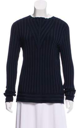 J Brand Wide-Rib Accented Long Sleeve Top