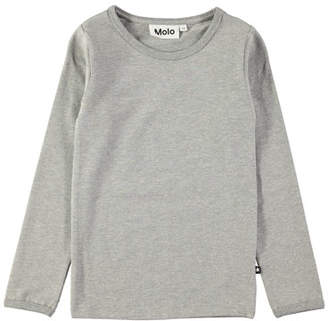Molo Ramona Long-Sleeve Heathered Tee, Size 3-10