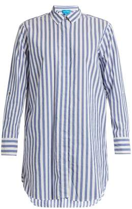 MiH Jeans Striped Cotton Shirt - Womens - Blue White