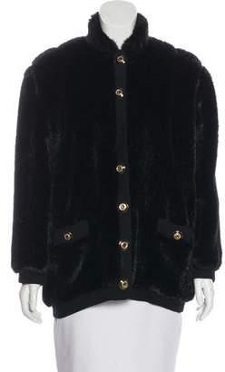 St. John Short Faux Fur Coat